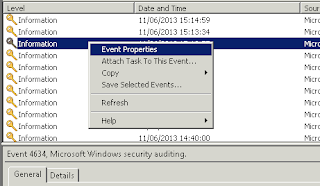How to filter all events of a user from windows server 2008 event logs? | Advance event log filtering