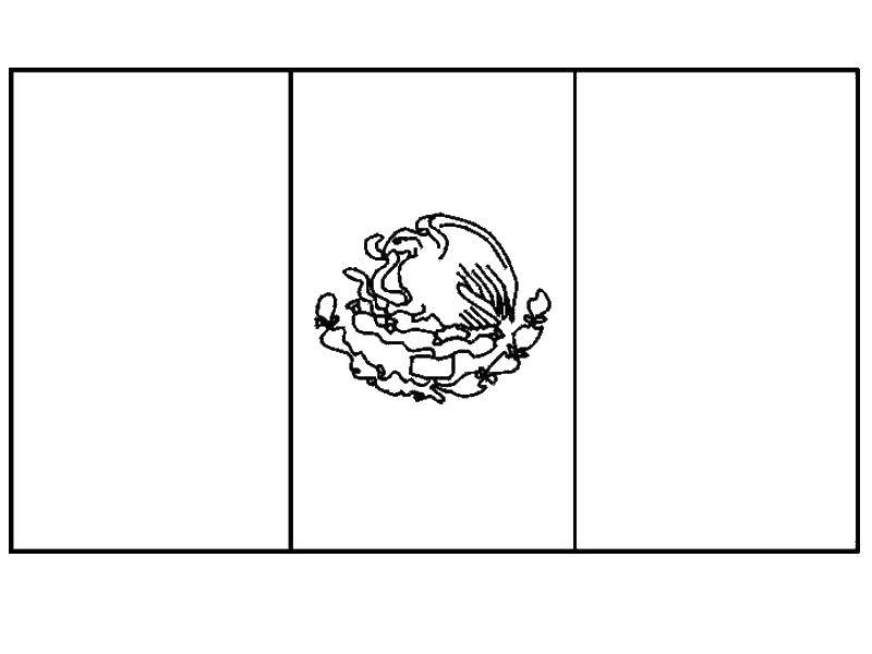 Coloring Page Mexican Flag