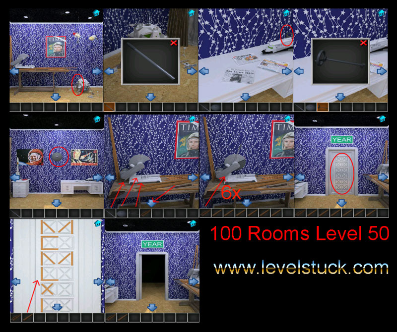 100 rooms walkthrough level 50