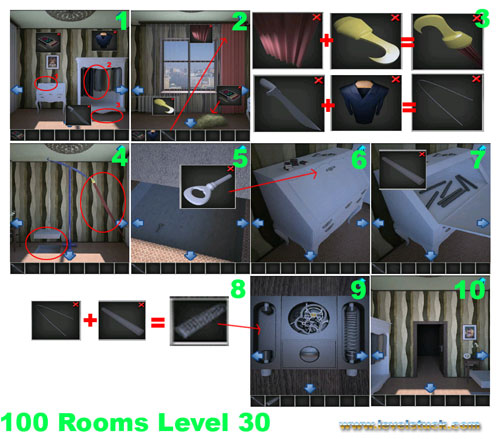 100 rooms level 30