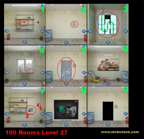 100 Rooms Walkthrough Level 27 and 28