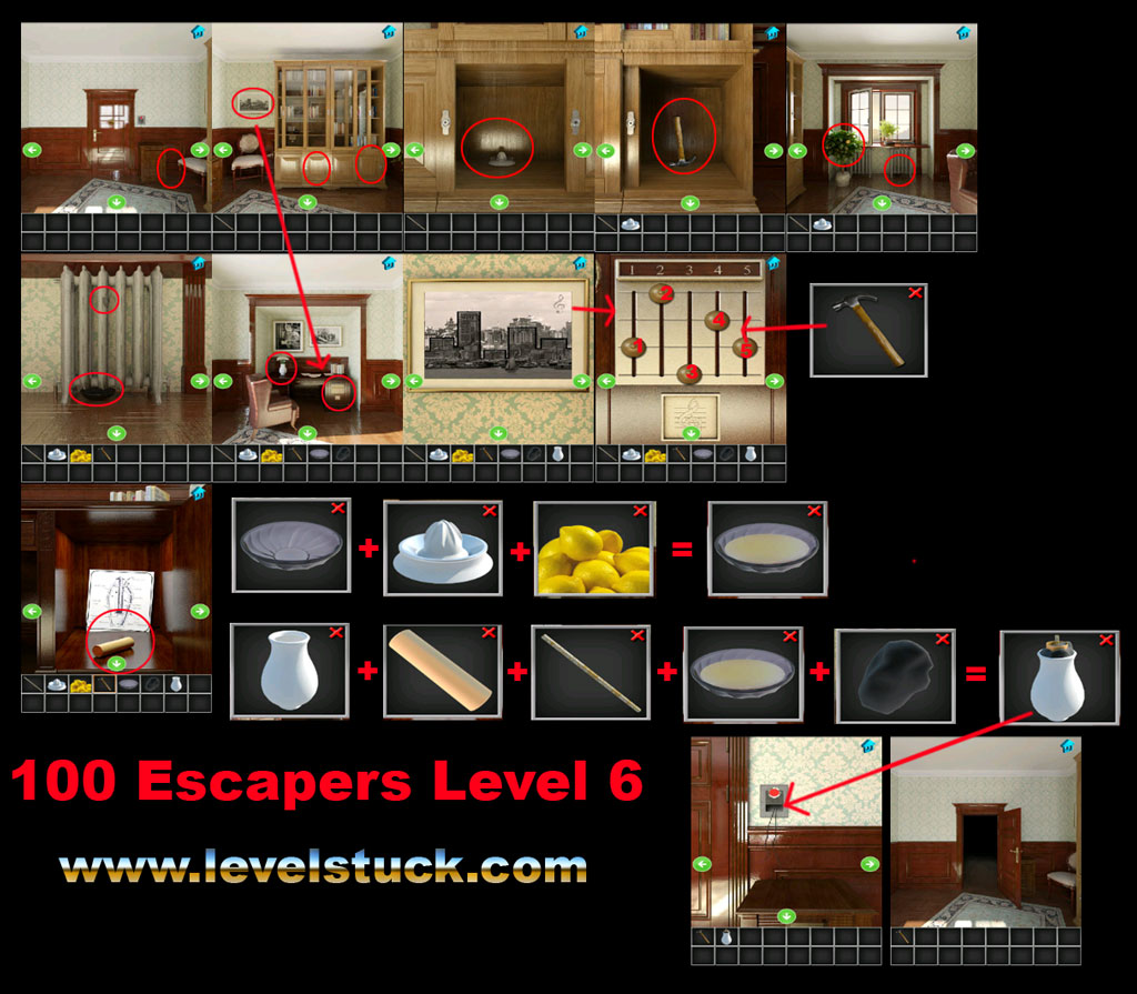 100 Escapers Walkthrough Level 5 and 6