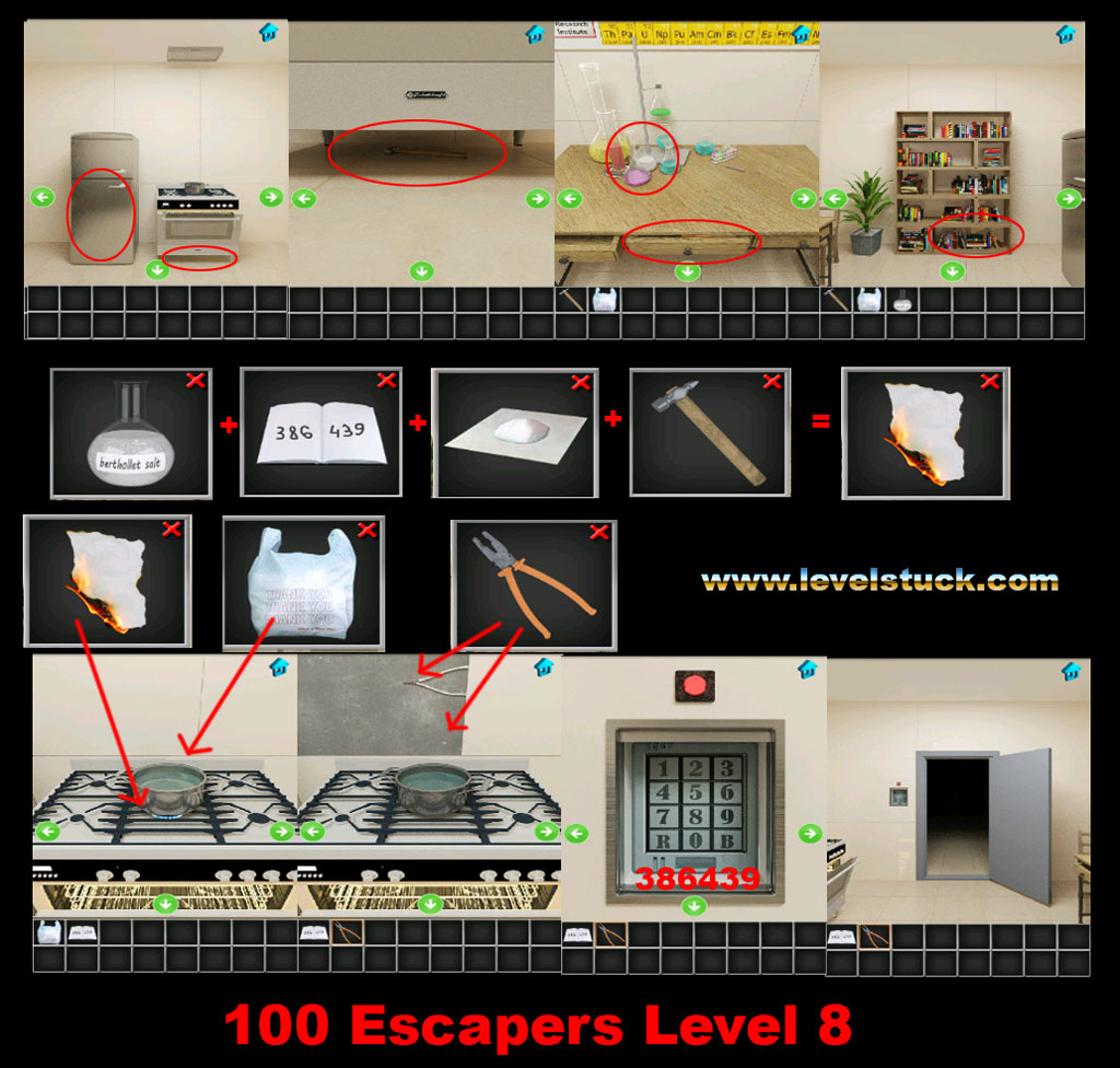 100 Escapers Walkthrough Level 7 and 8