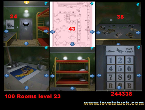 100 Rooms Walkthrough level 21 22 23 24