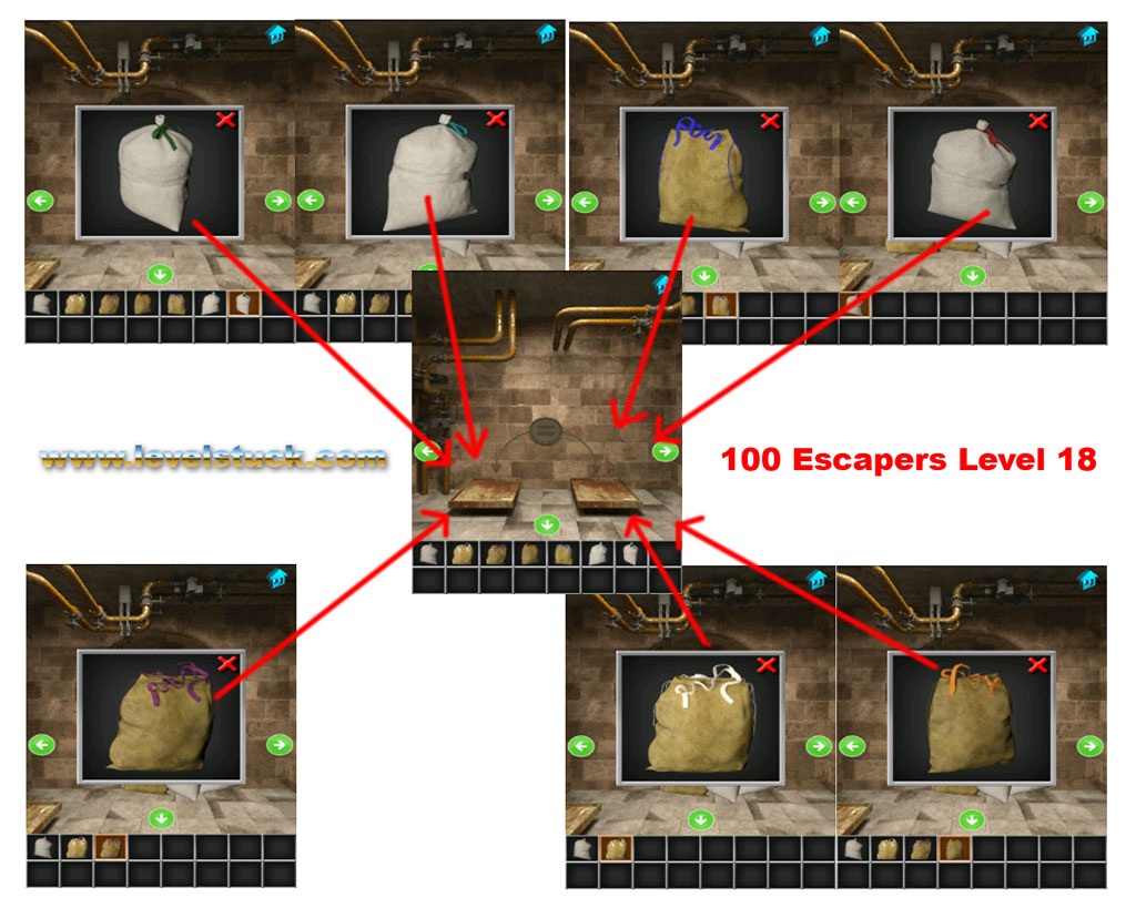 100 Escapers Walkthrough Level 17 and 18