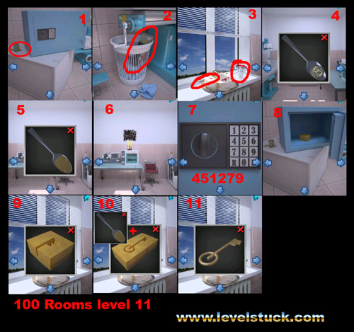 100 Rooms Walkthrough Level 8 9 10 11 12