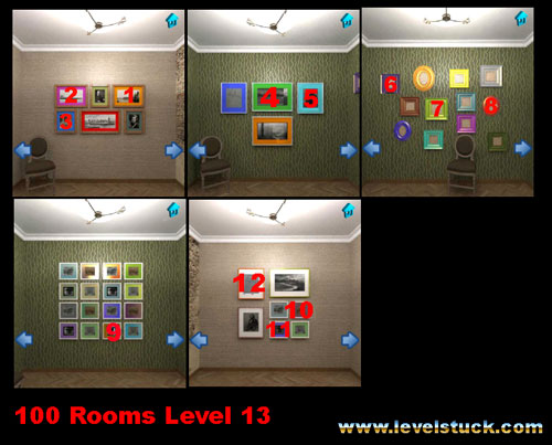 100 Rooms Solutions level 13 and level 14