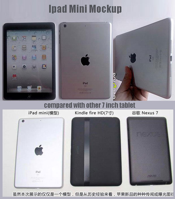Ipad mini being produced, will compete with the Nexus 7