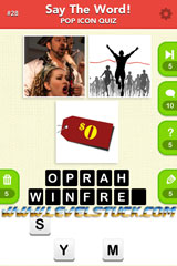Say the Word – Guess What's the Celeb Answers Level 1 to 40