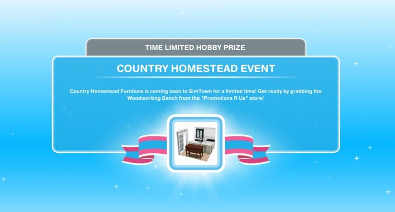 Sims FreePlay Country Homestead Event